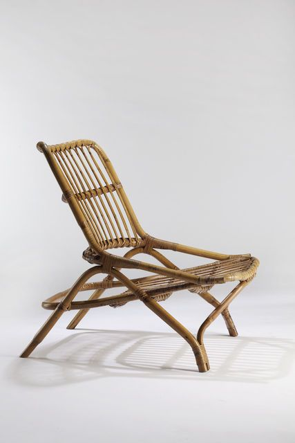 Joseph-André Motte; Rattan 'Sabre' Chair, 1954