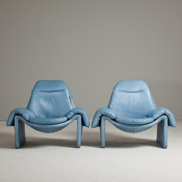 Talisman A Pair of Introini designed for Saporiti Armchairs 1970s