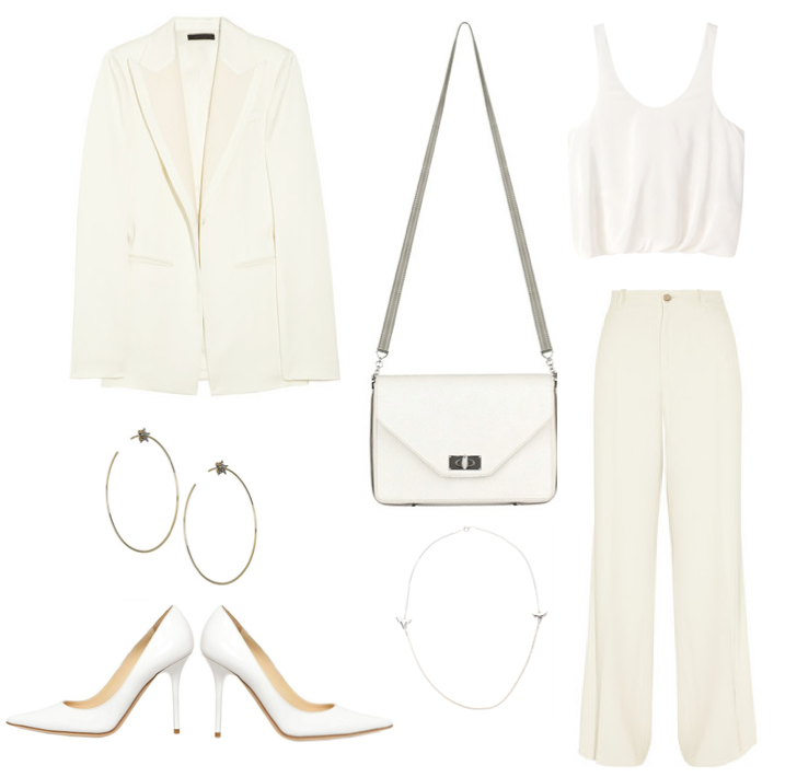 All white New Years Eve outfit 2012-2013 suit