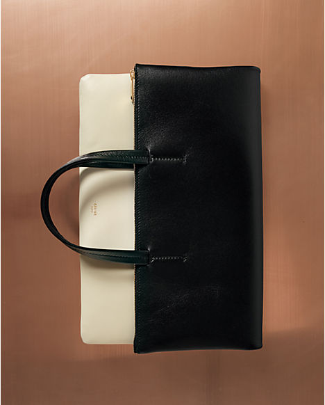 Céline leather good spring 2013 folded canvas bag