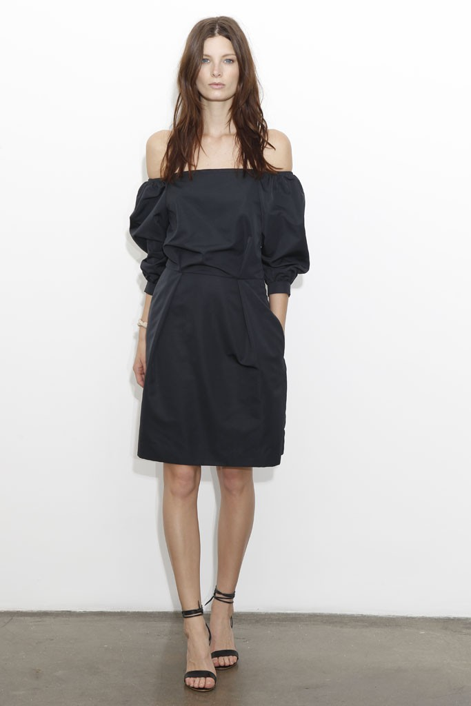 Chloe Resort 2013 black off the shoulder dress