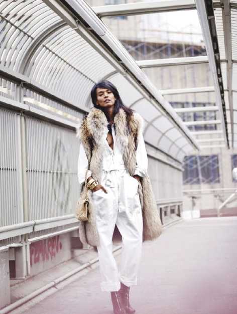 ELLE France December 2012 feature Liya Kebede-1