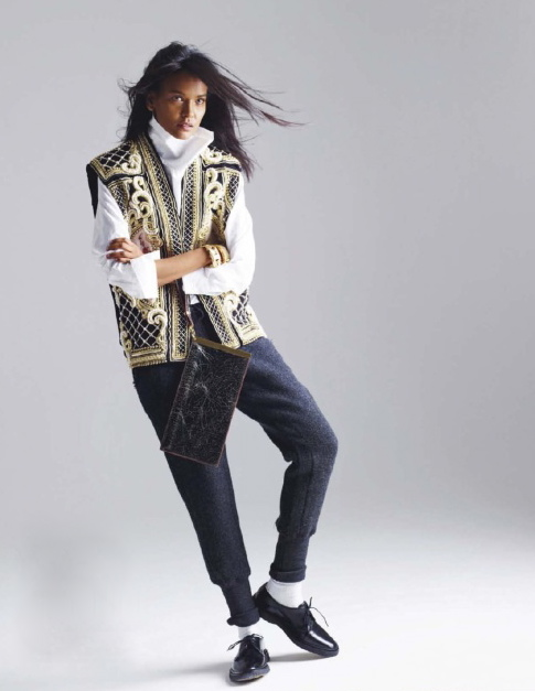 ELLE France December 2012 feature Liya Kebede-3