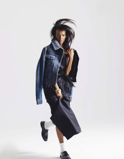 ELLE France December 2012 feature Liya Kebede-4