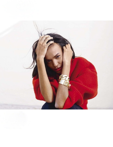 ELLE France December 2012 feature Liya Kebede-7