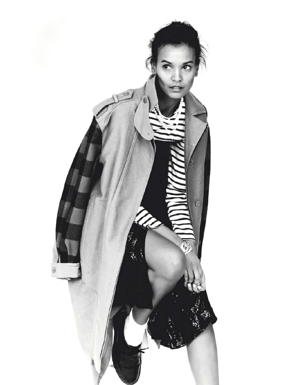 ELLE France December 2012 feature Liya Kebede by Ben Morris