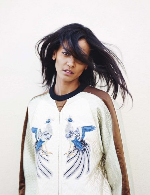 ELLE France December 2012 feature Liya Kebede