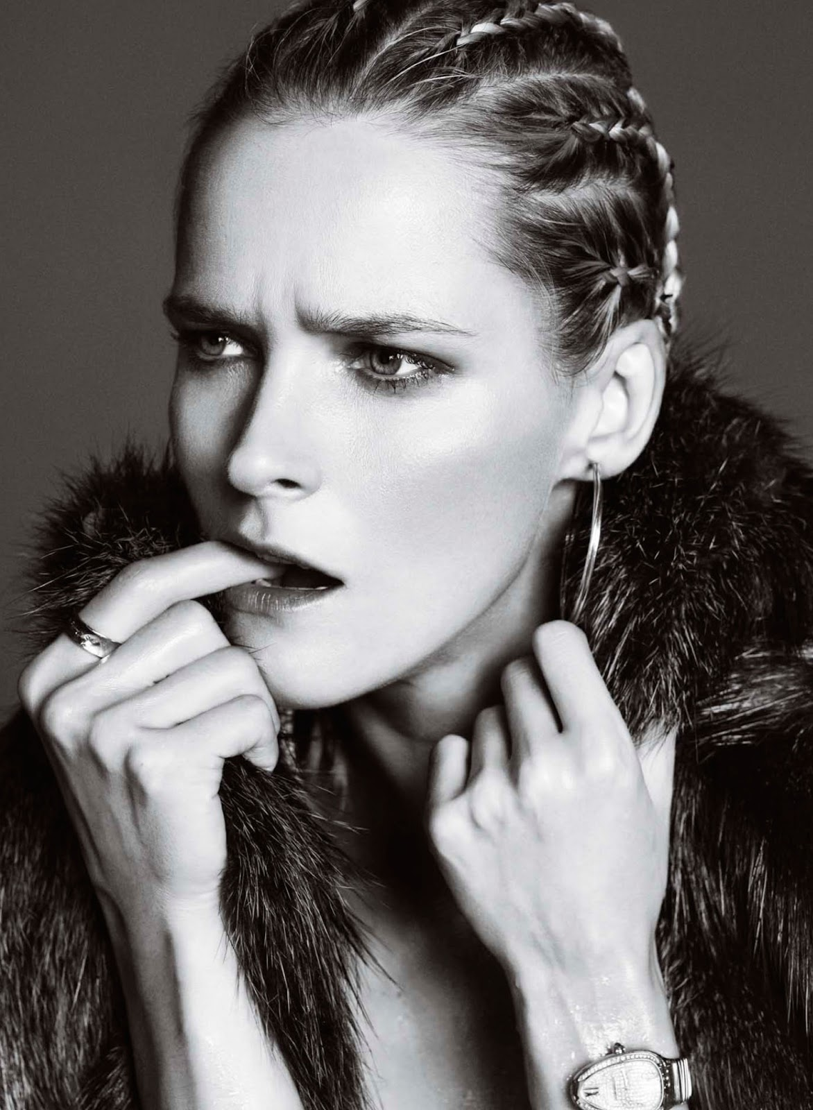Harper's Bazaar Spain January 2012 Carmen Kass by Nico-2