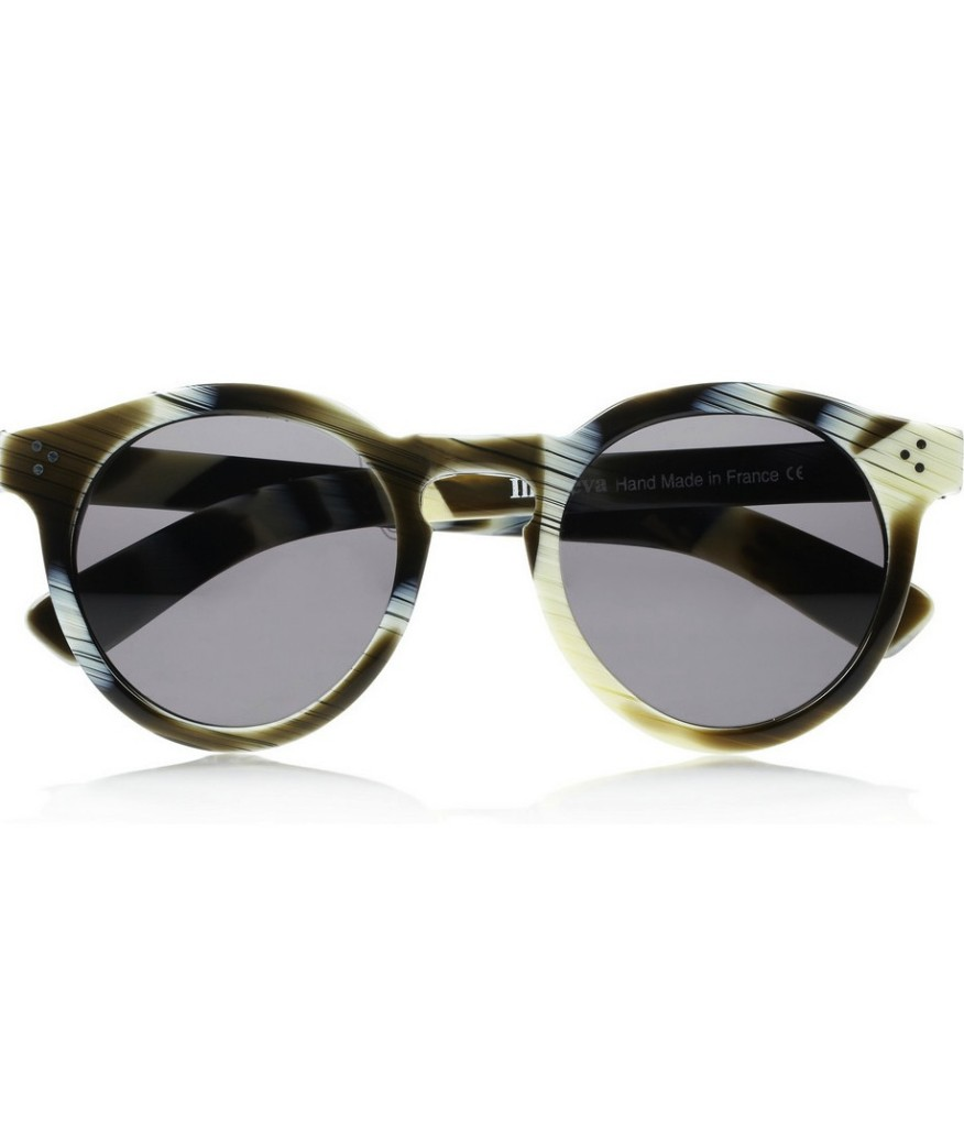 Round Frame Sunglasses  illesteva leonard 2 round frame acteate sunglasses my daily edition