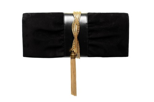Saint Laurent Clutch with gold tassel Spring Ready To Wear 2013