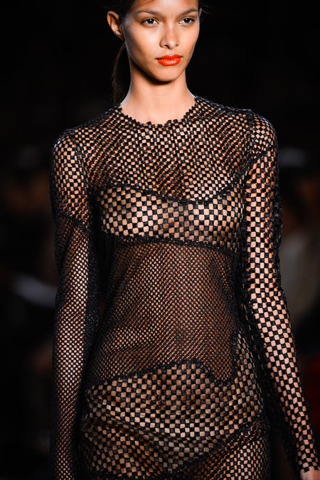 Akris Spring 2013 mesh in black
