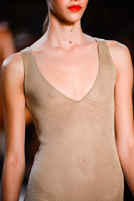 Akris Spring 2013 mesh in nude