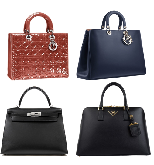 Bag Spring 2013 - Dior, Prada and Hermes bags