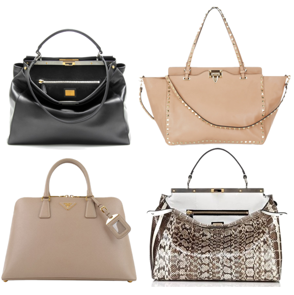 Bags on my mind - Fendi Peek-a-boo, Valentino & Prada bags Spring 2013