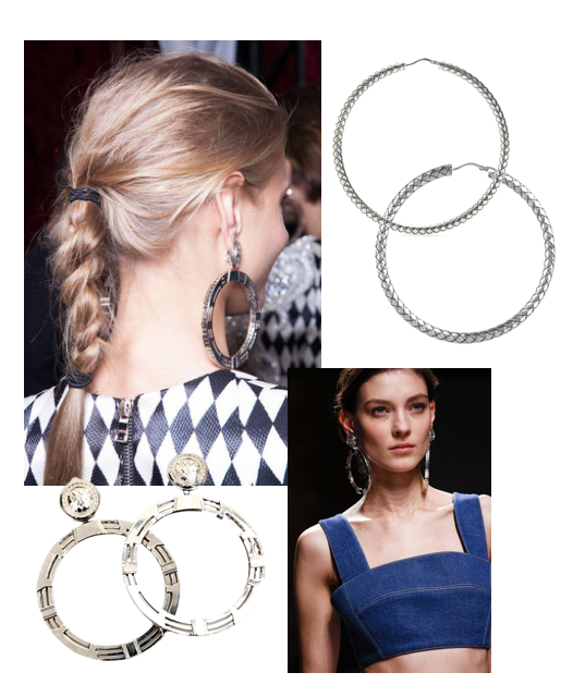 Balmain hoop-loop earrings spring 2013