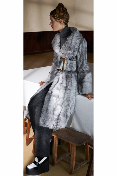 Céline Pre-Fall 2013 goat hair coat