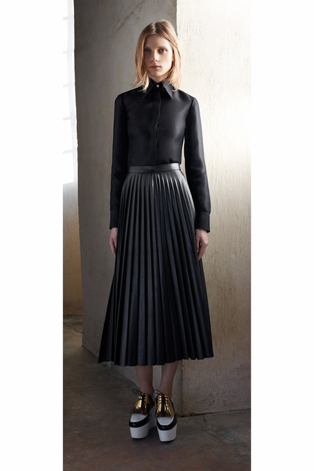 Céline Pre-Fall 2013 pleated leather skirt