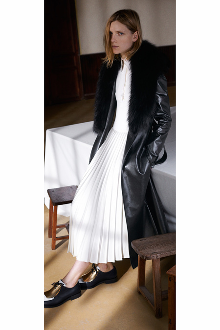 Céline Pre-Fall 2013 pleated white skirt