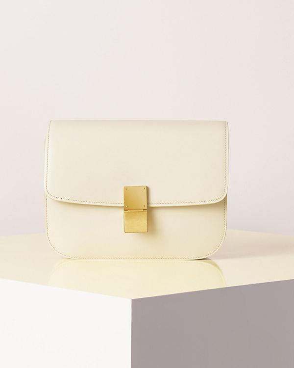 Céline Spring Summer 2013 leather box bag in white