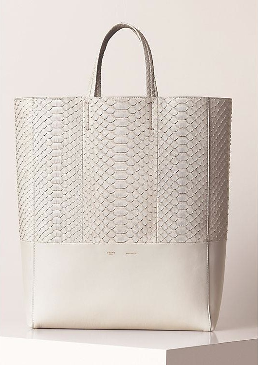 Céline Spring Summer 2013 leather tote in python