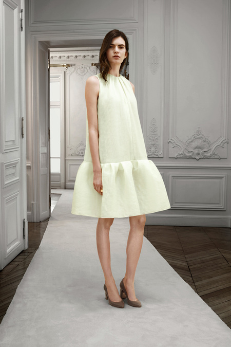Chloé Pre-Fall 2013. lime dress