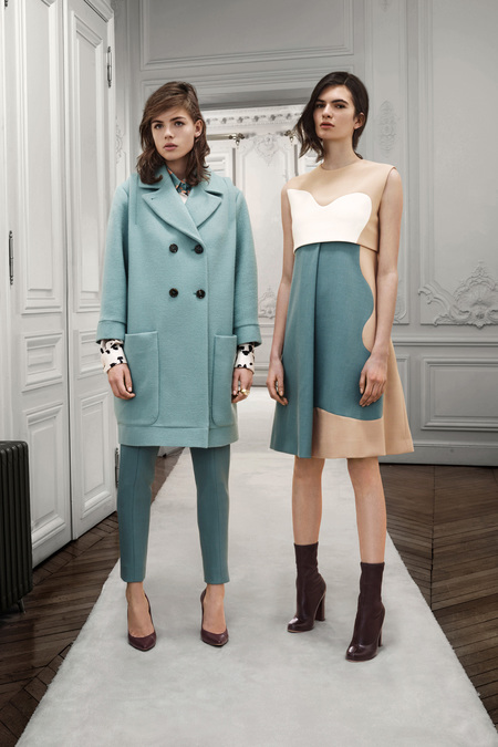 Chloe Pre-Fall 2013 mint coat