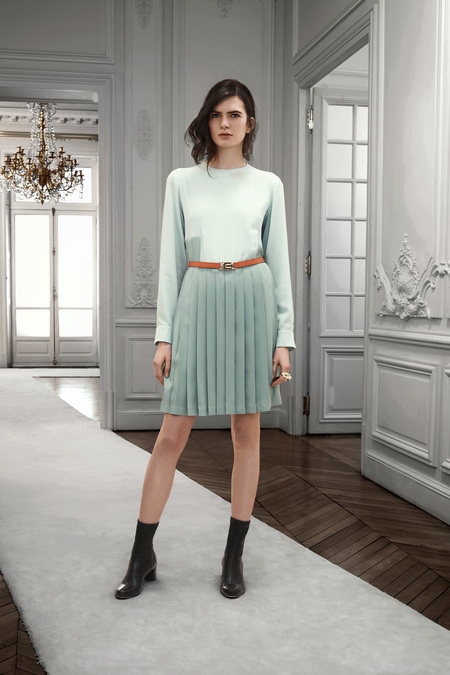 Chloe Pre-Fall 2013. mint pleated skirt