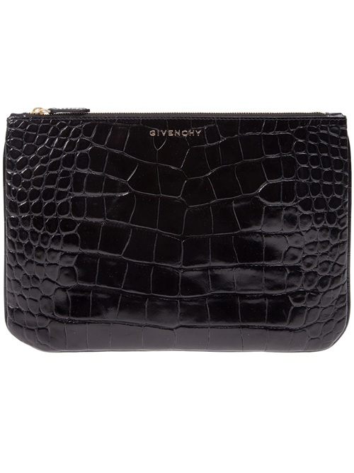 Givenchy croco embossed pouch