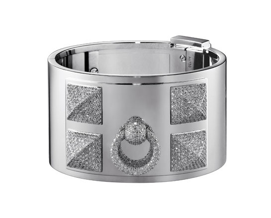 Hermes bracelet collier de chien with diamonds