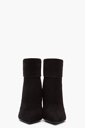 Saint Laurent black suede Paris P 80 slouch boots-1