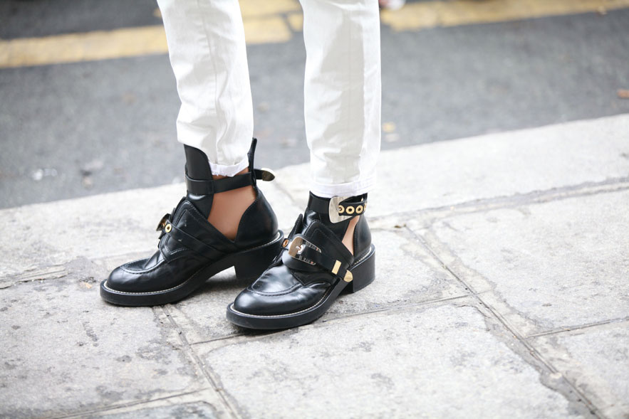 Street style Paris fashion week haute couture 2013 Balenciaga shoes