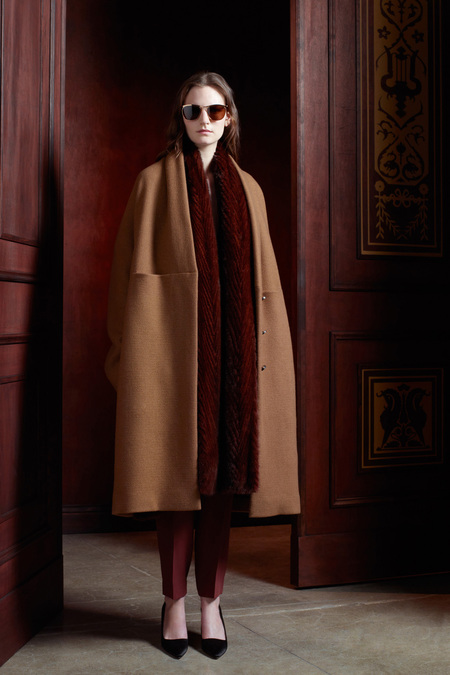 The Row Pre-Fall 2013 camel and burgundy