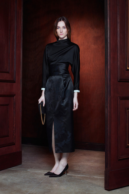 The Row Pre-Fall 2013 obi belt black satin