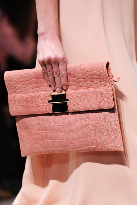 Valentino Spring 2013 pink clutch in pyhton