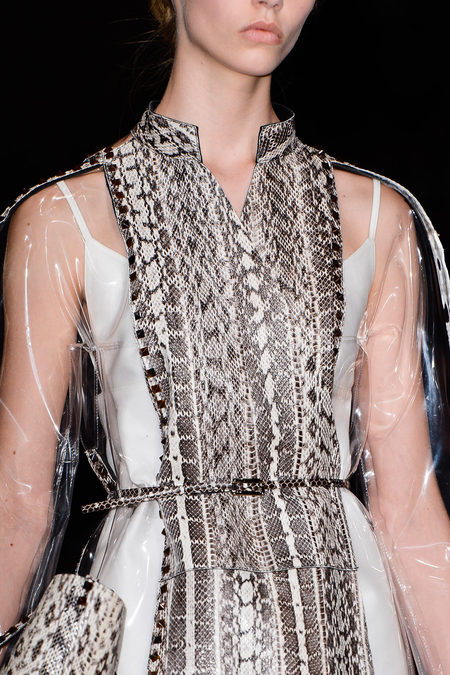 Valentino Spring 2013 python details and pvc