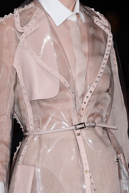 Valentino Spring RTW 2013 trench coat pvc