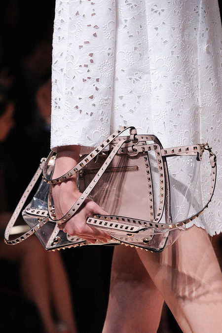 Valentino studded bag in plastic spring 2013