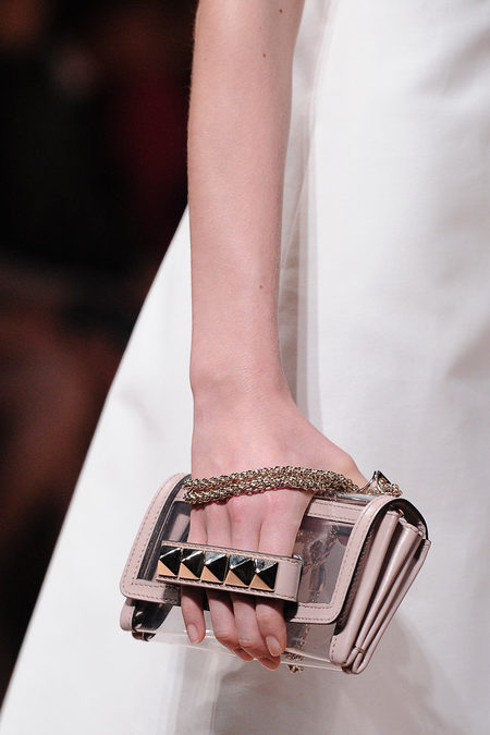 Valentino studded clutch spring 2013