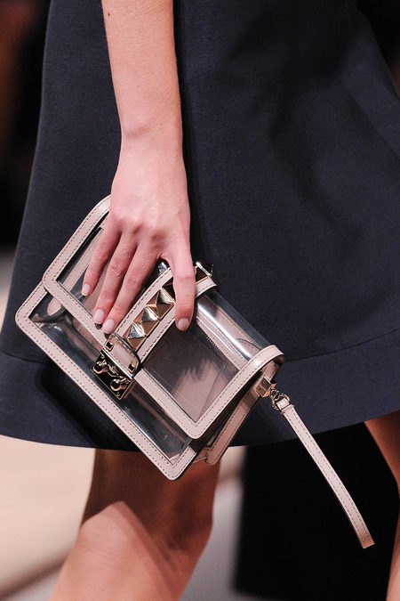 Valentino studded clutch with beige details spring 2013