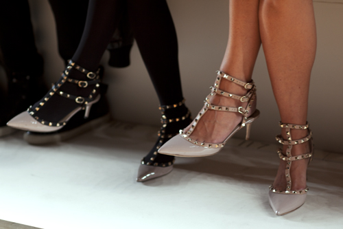 Valentino studded kitten heels