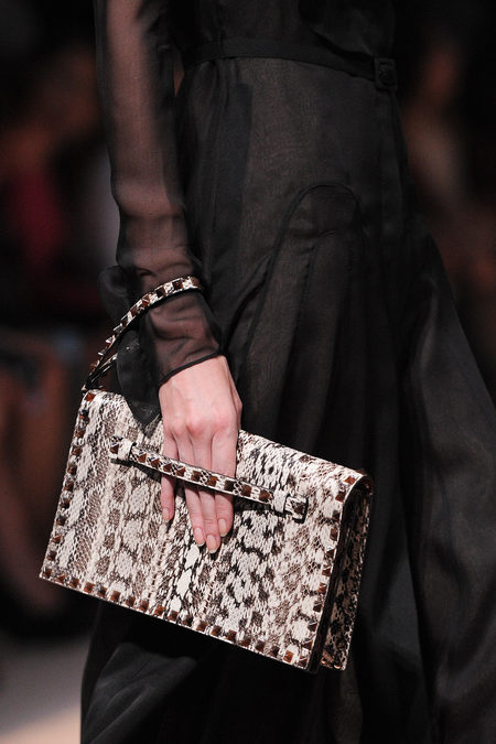 Valentino studded python clutch spring 2013