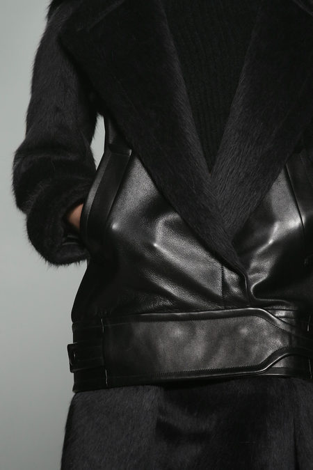 Alexander Wang Fall 2013 collection detail leather jacket