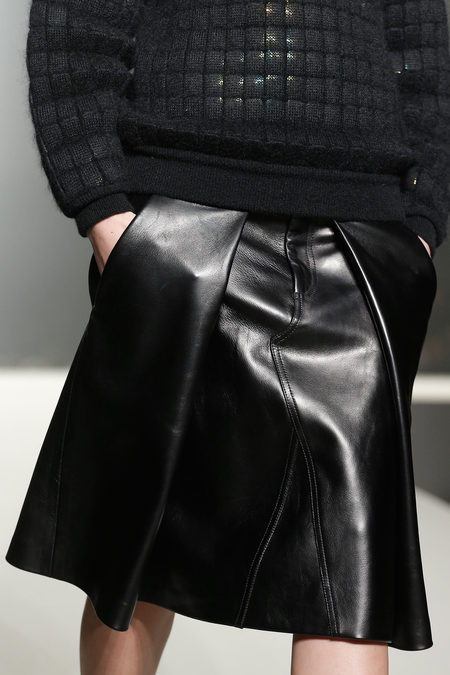 Alexander Wang Fall 2013 collection leather skirt