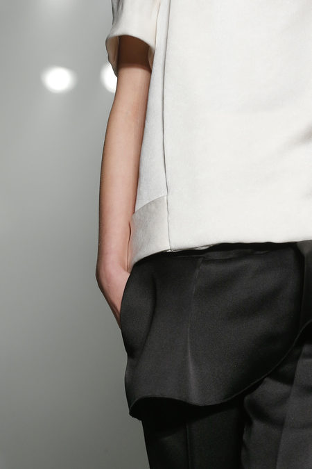 Alexander Wang Fall 2013 collection satin black and white