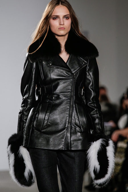 Altuzarra Fall Winter 2012 fur mittens