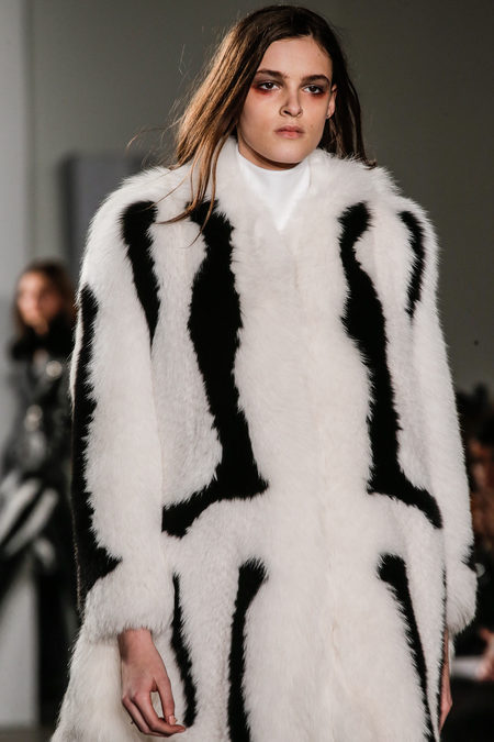 Altuzarra Fall Winter 2012 white fur