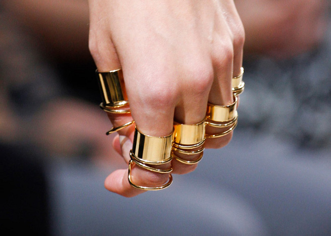 Balenciaga it-rings Spring 2013 gold