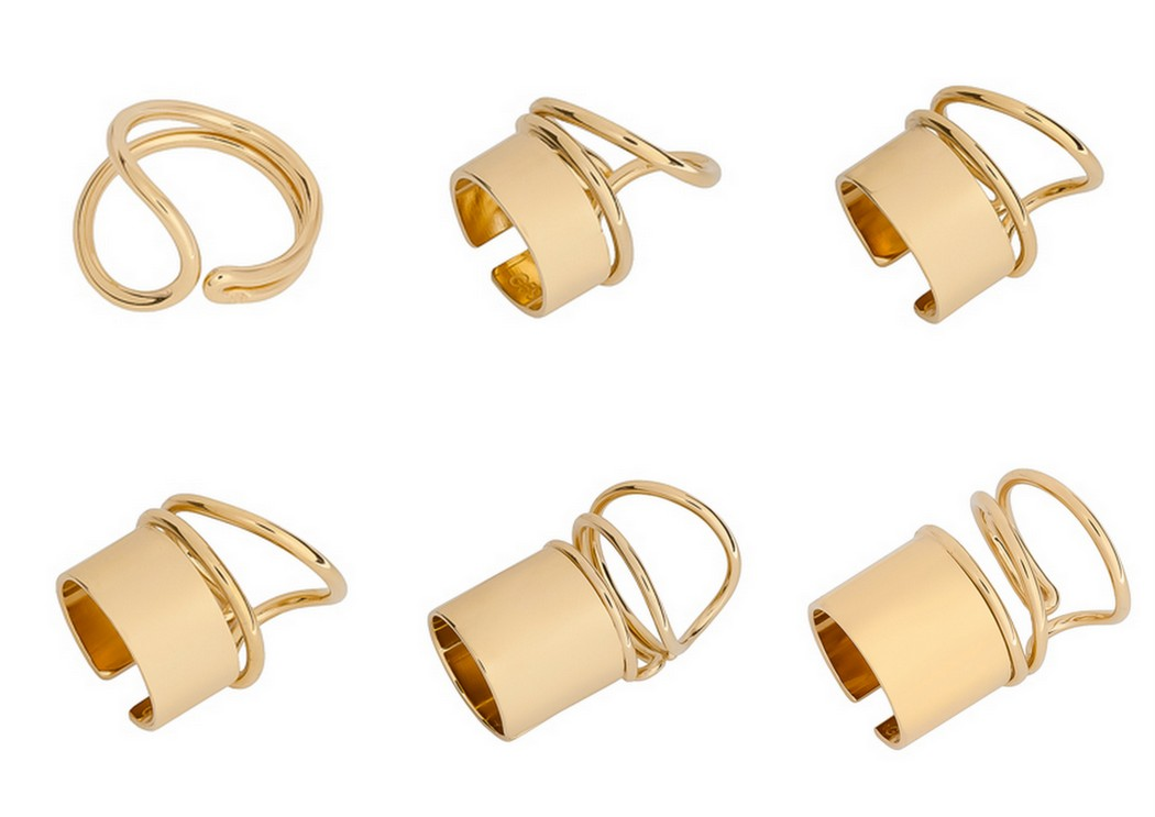 Balenciaga rings in gold spring summer 2013