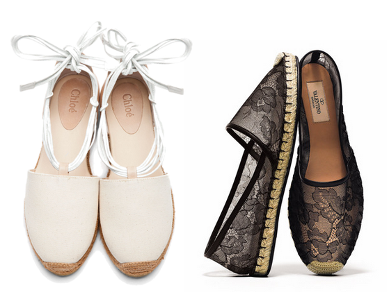 Chlo &amp; Valentino lace espadrilles