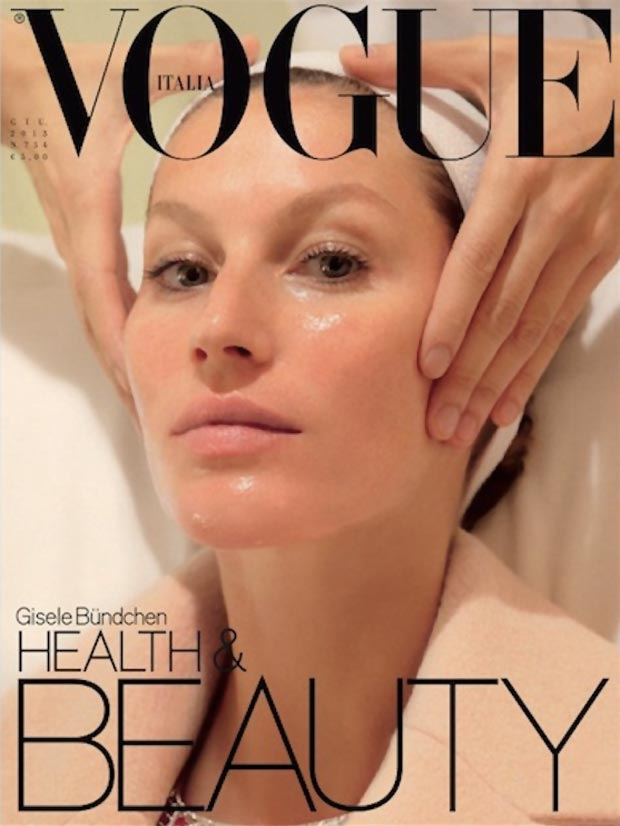 Gisele Bundchen Vogue Italy June 2013 beauty cover